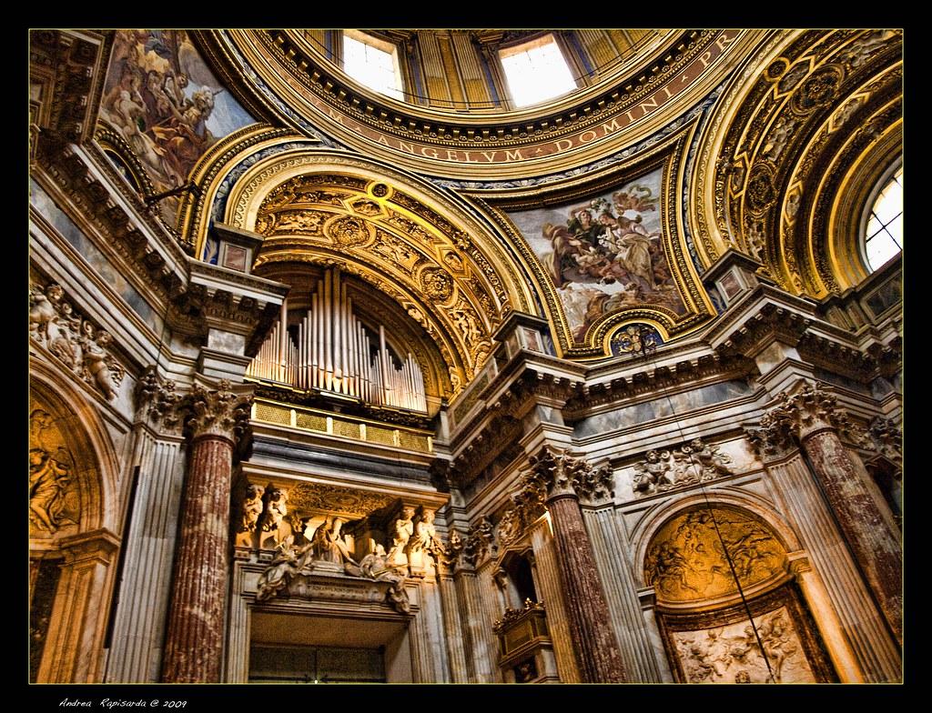 On black organo e interni della chiesa di s agnese in - Arredatori d interni roma ...