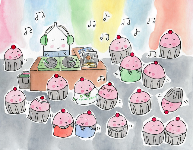Custom order, Milk DJ at a Cupcake Dance Party