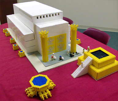 Assembling solomon 39 s temple lego for Building the tabernacle craft