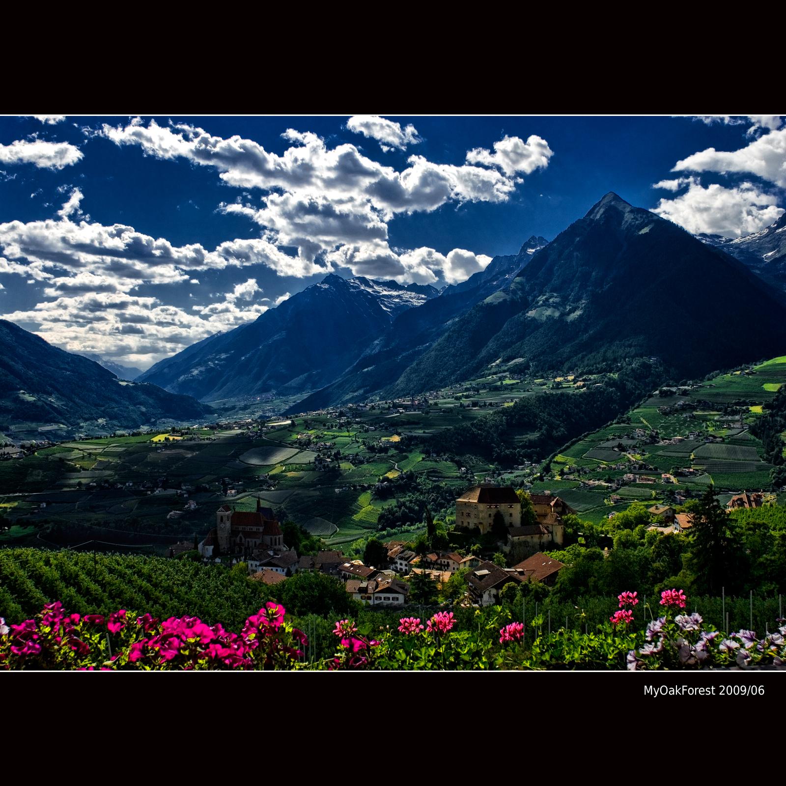 Elevation Map Of Province Of Bolzano South Tyrol Italy