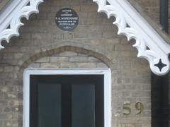 Photo of P. G. Wodehouse brown plaque