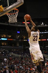 Derrick Williams soaring through the air.