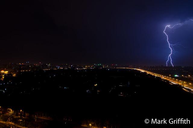 Lightning over Beijing