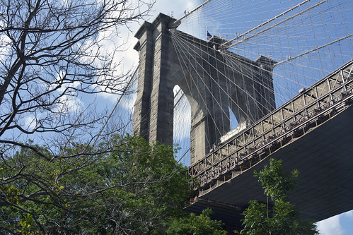 Picture Of The Brooklyn Side Tower Of The Brooklyn Bridge. Photo Taken Sunday July 14, 2013