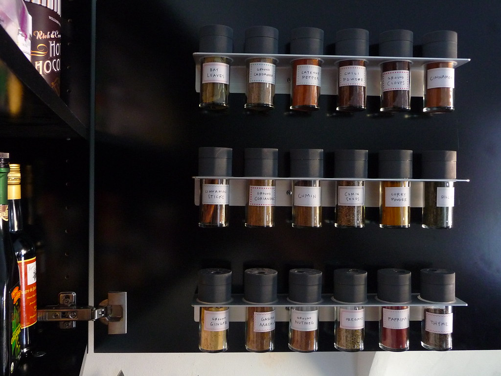 Spice jars door sixteen - Ikea kitchen spice rack ...