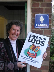 Councillor Jackie Porter is campaigning to save the loos in Alresford from being closed by Winchester City Council.  See www.saveourloos.com for more details.