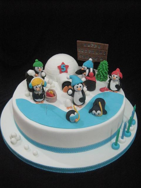 Birthday Cake Ideas Penguin : Penguin Birthday Cake Flickr - Photo Sharing!
