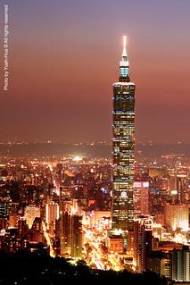 Taipei 101 Skyscraper at Sunset │ May 08, 2009