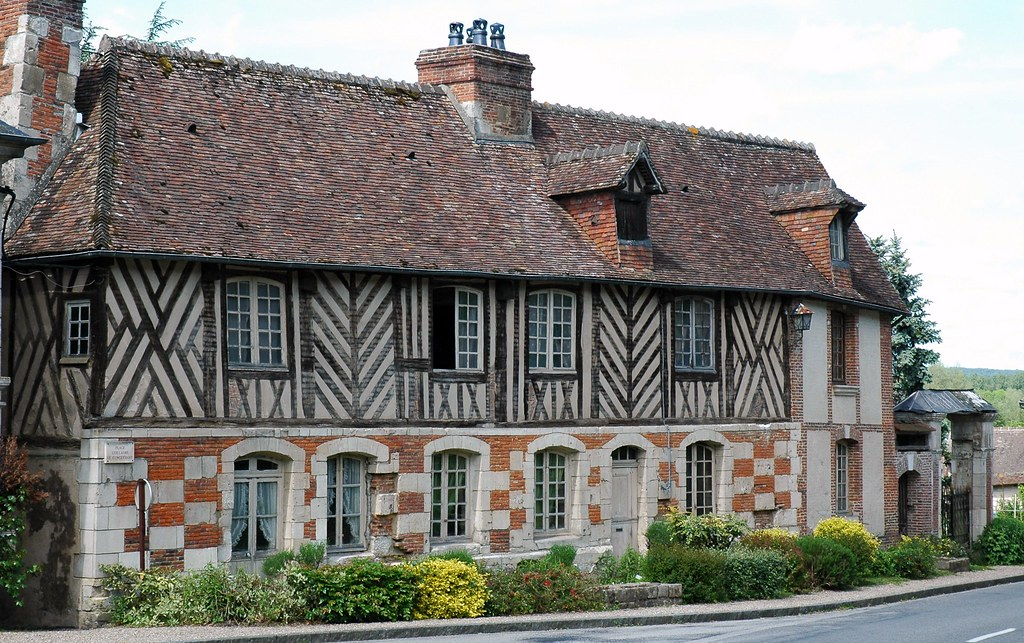 Old house,Le Bec-Hellouin,Eure,France