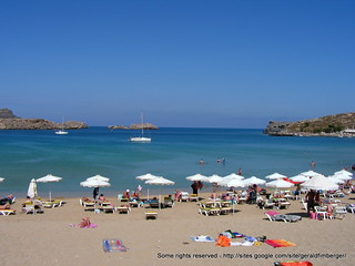 Petalas (Πεταλάς) Lindos Beach közelében Líndos képe. strand meer griechenland landschaft tourismus lindos rhodos bucht dodekanes