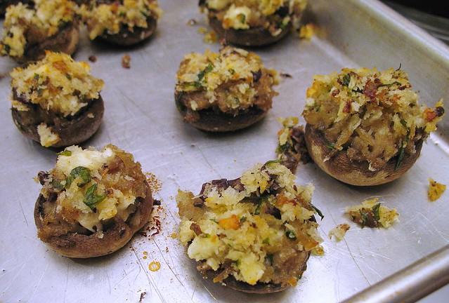stuffed mushrooms with breadcrumbs, lovage, feta cheese   Flickr ...