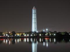 Washington Monument in scaffolding, November 8-9, 2013