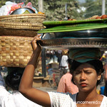 Woman at Market, Balancing Act - Mandalay, Burma