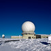 Uk Radar Station in deep snow