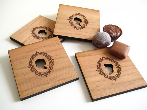 Silhouette Wood Coasters