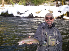 Craig with a nice snow 'bow