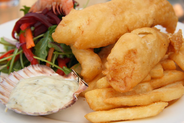 Beer battered fish and chips | Flickr - Photo Sharing!
