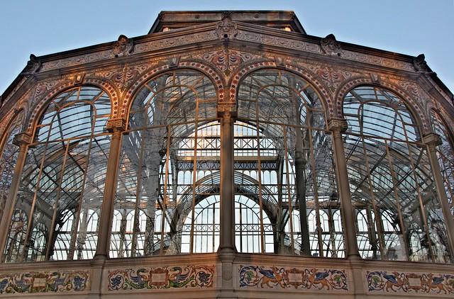 El Palacio de Cristal del Retiro, Madrid, España