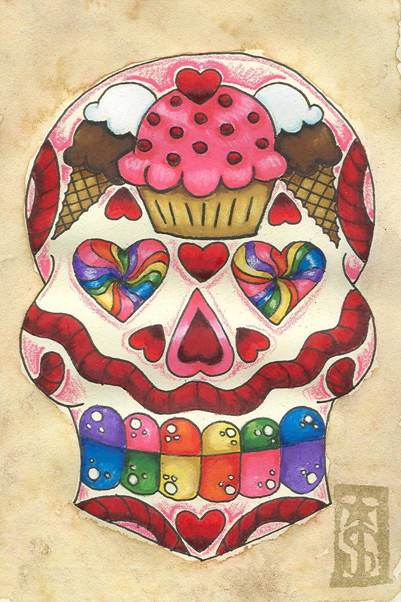 8 candyland sugar skull a photo on flickriver. Black Bedroom Furniture Sets. Home Design Ideas