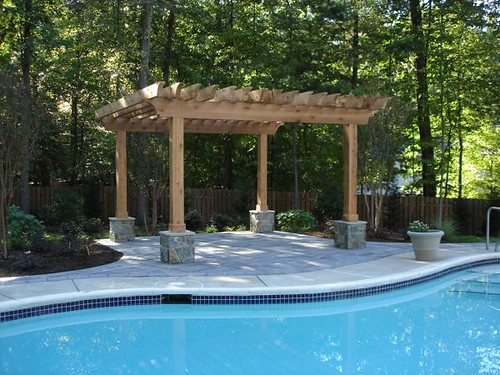 Backyard Landscaping With Pool : Greatest Back Yard Swimming Pool Landscaping 500 x 375 ? 135 kB