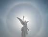 22 deg halo and Angel Hope by David Lee Tiller