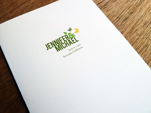 Printable Wedding Program cover Garden Party