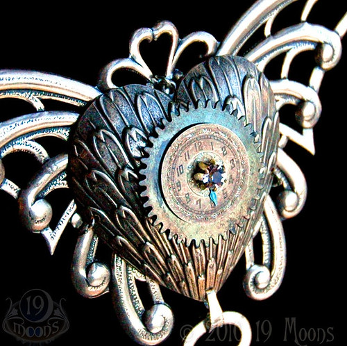 Exultation of the Heart- OOAK Steampunk necklace by 19 Moons