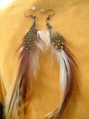 Custom Made Feather Earrings Very Beautiful