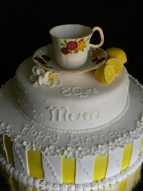 Tea cup 80th birthday cake Flickr - Photo Sharing!