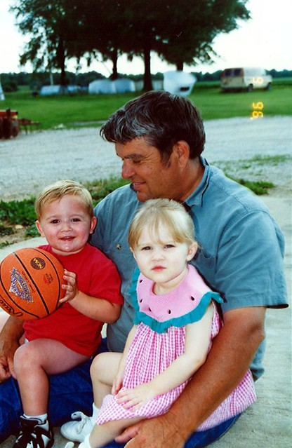 06-1996 Dad with Ashley and Tyler