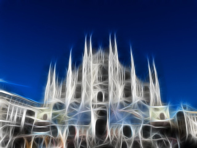 milano in fractalius style