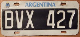 ARGENTINA c.2000 LICENSE PLATE