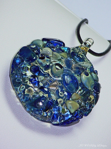 REFLECTIONS in a RIVER Glass Pendant