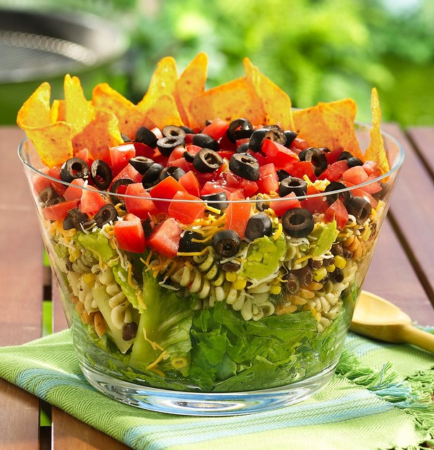 Layered Mexican Party Salad  Box Betty Crocker Suddenly