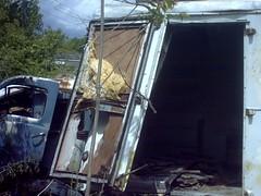 Wrecked Refrigeration Truck | Gravel Mill