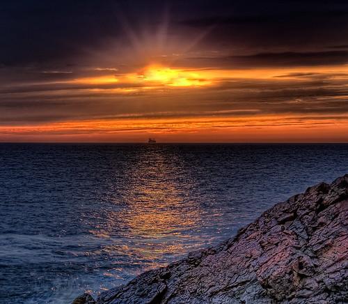 water sunrise ship hdr nahant d300 photomatix 2470mmf28g vosplusbellesphotos nikonjim