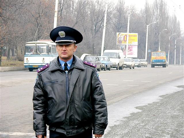Ukraiński policjant