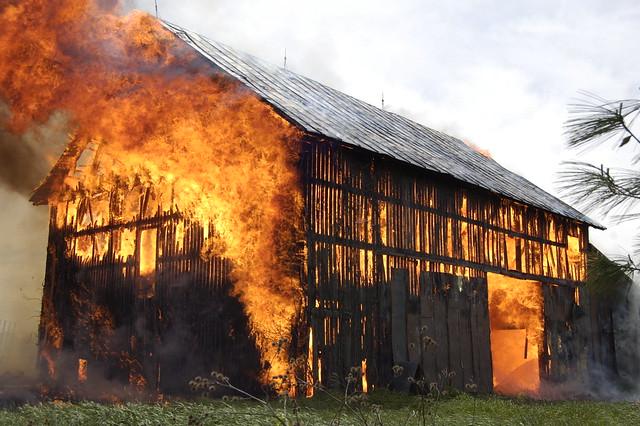 burning barns