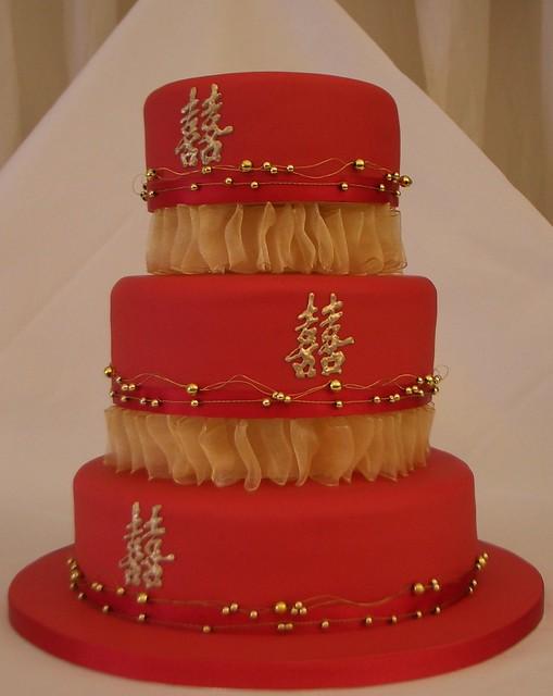 Asian Themed Wedding Cake - CMNY Cakes