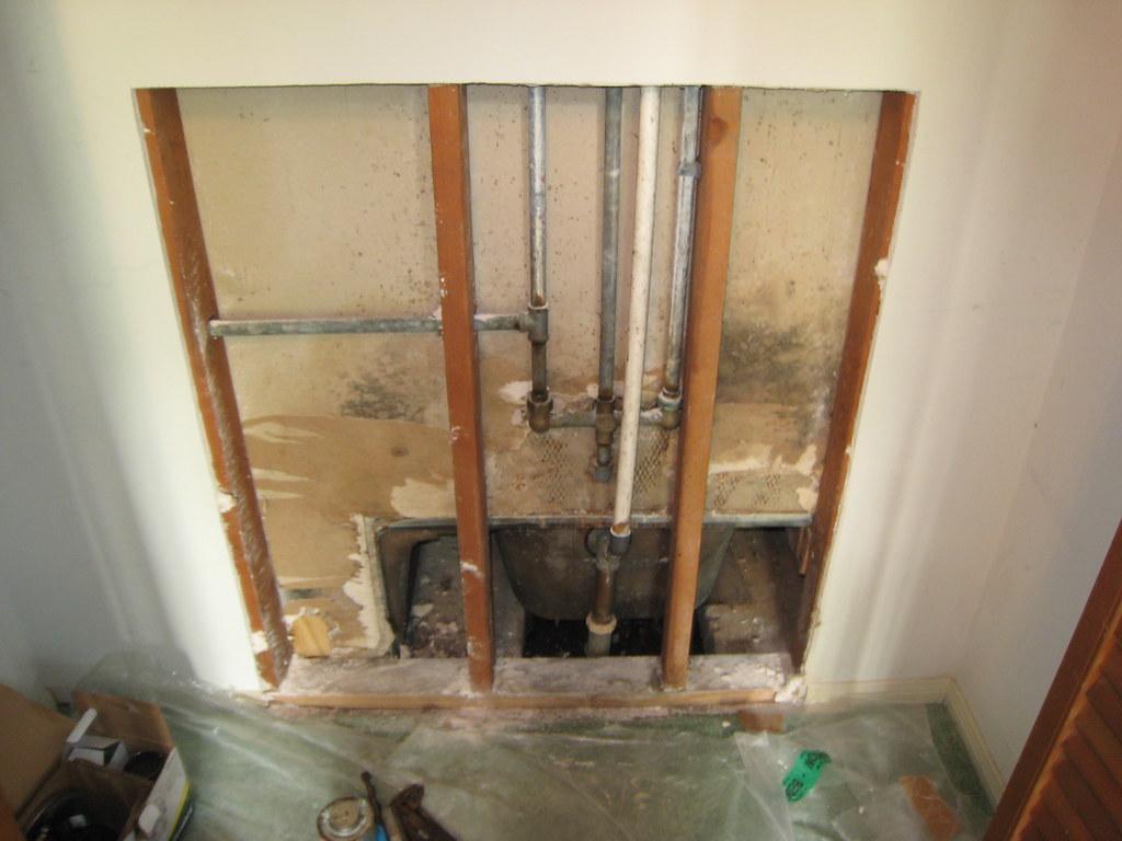 Hall Bath Plumbing - Before