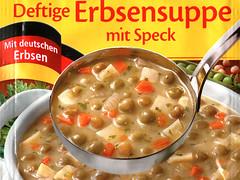 Erbsensuppe mit deutschen Erbsen