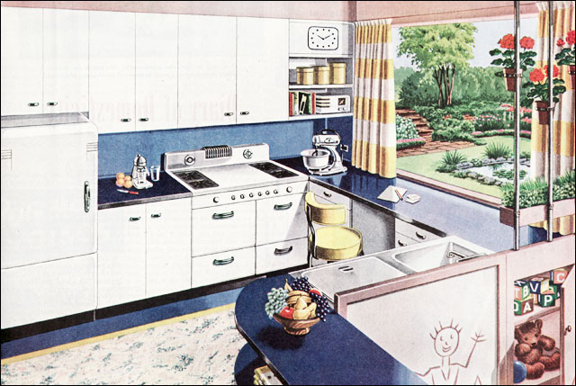 1945 American Gas Association Kitchen