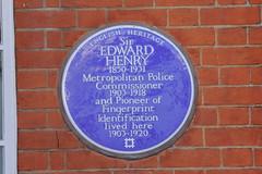 Photo of Edward Henry blue plaque