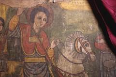 St. George Astride His Horse, Church of Bet Giorgis, Lalibela, Ethiopia