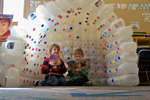 milk carton igloo