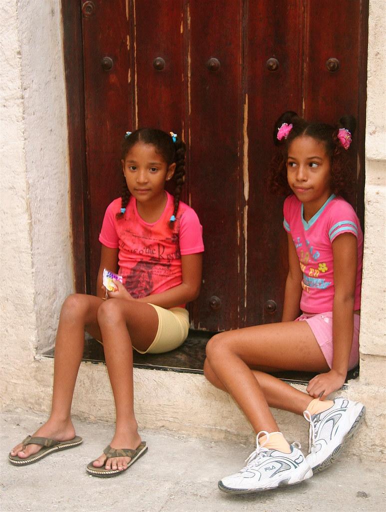 Curiously Young cuban teen girls
