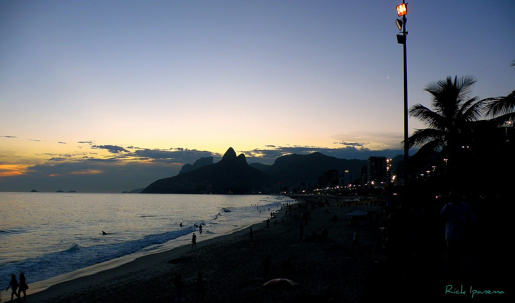 Por do Sol em Ipanema - Sunset in Ipanema Beach