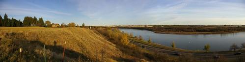 autumn panorama white canada fall river swan pano south north panoramic east saskatoon ravine saskatchewan spadina meewasin hillside pozland mewasin