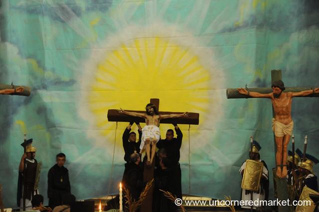 Semana Santa, Raising the Cross - Antigua, Guatemala