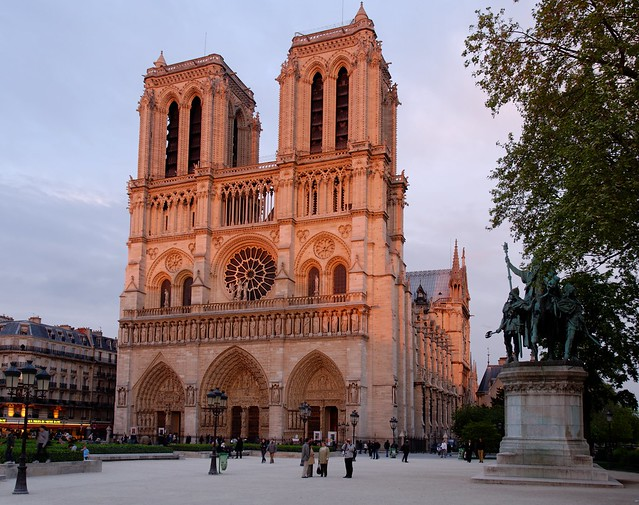 Paris - Notre-Dame in evening sunlight